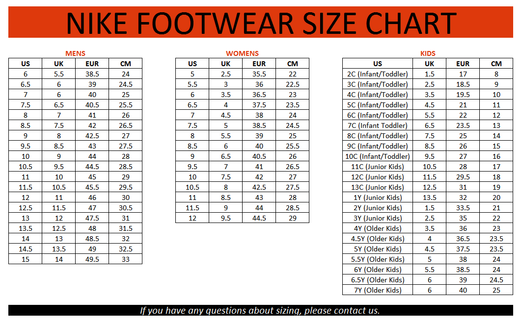 Shoes Chart Size Adidas