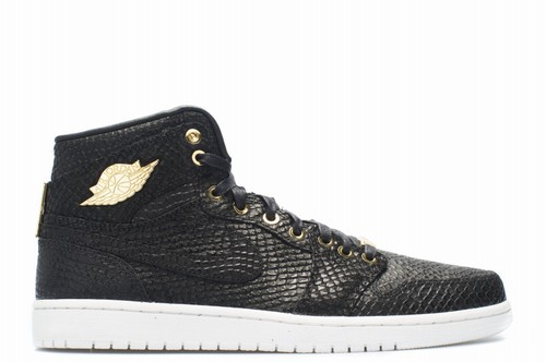 Air Jordan 1 Pinnacle Black Mtllc Gold