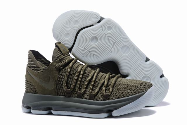 Nike KD 10 Shoes Army Green