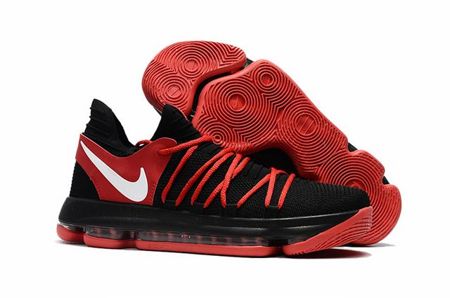 Nike KD 10 Shoes Black Red White