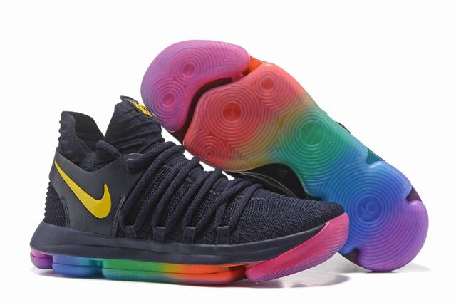 Nike KD 10 Shoes Dark Blue Yellow
