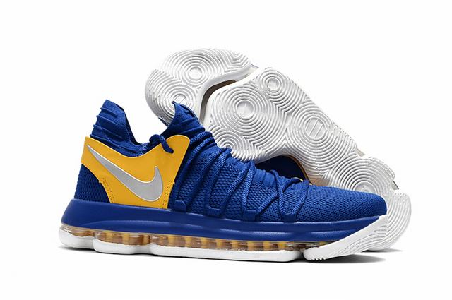 Nike KD 10 Shoes Royal Blue Yellow