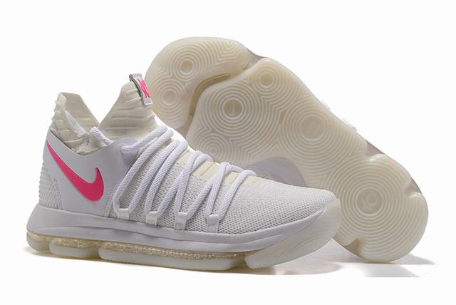 Nike KD 10 Shoes White Pink