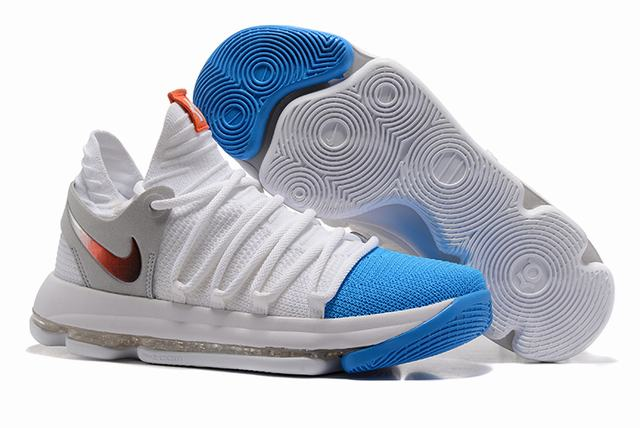 Nike KD 10 Shoes White Sky Blue