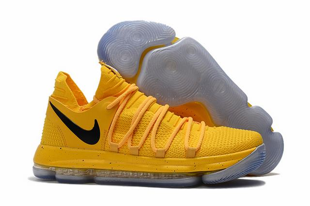 Nike KD 10 Shoes Yellow Black