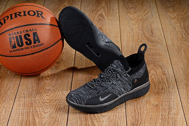 Nike KD 11 Shoes Black Cool Grey