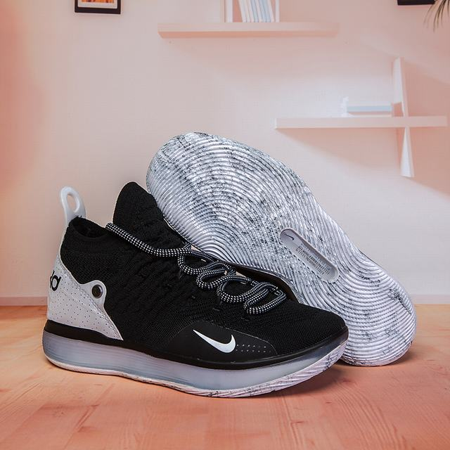 Nike KD 11 Shoes Black White White-logo