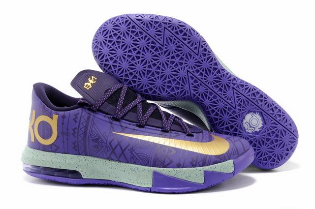 Nike KD 6 Shoes Purple Yellow