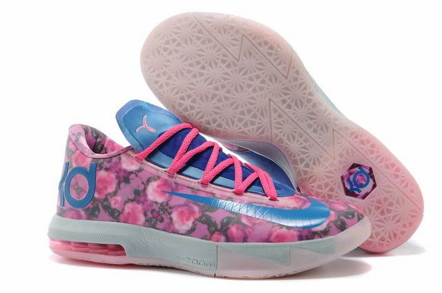 Nike KD 6 Shoes Rose Blue