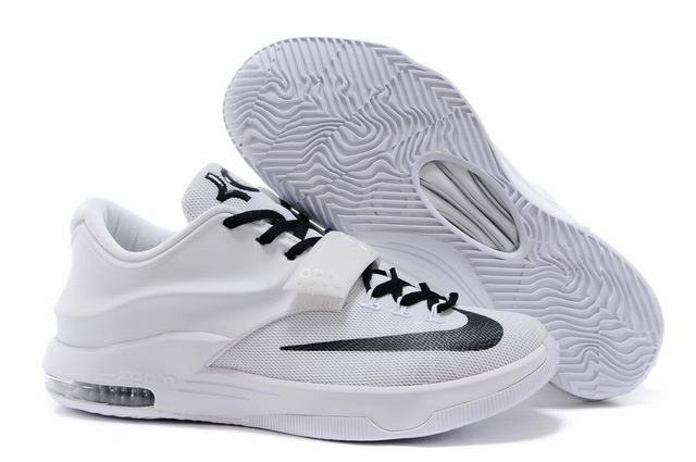Nike KD 7 Air Cushion Shoes White Black