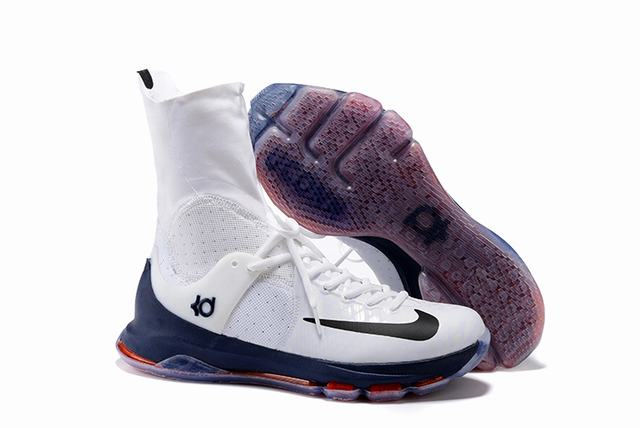 Nike KD 8 Shoes Elite White Dark Blue Red