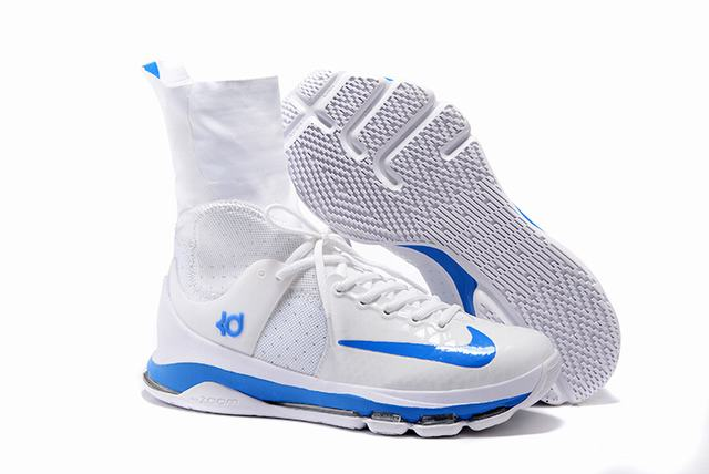 Nike KD 8 Shoes Elite White Royal Blue