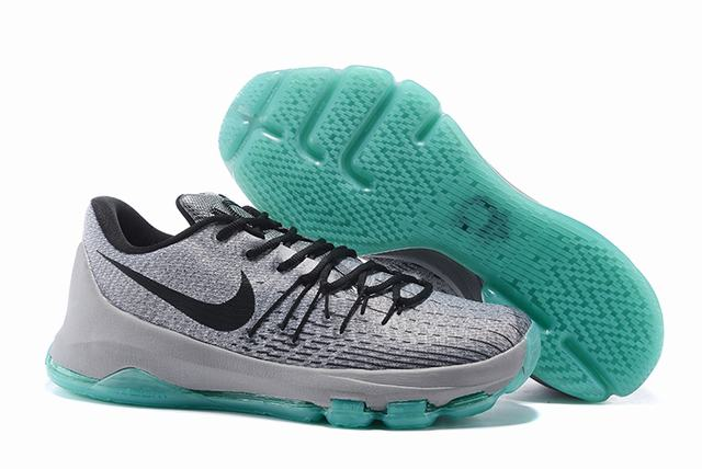 Nike KD 8 Shoes Low Grey Black