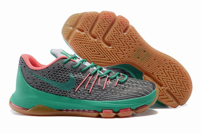 Nike KD 8 Shoes Low Grey Green