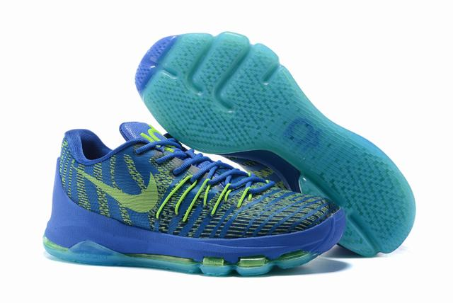 Nike KD 8 Shoes Low Royal Blue Green