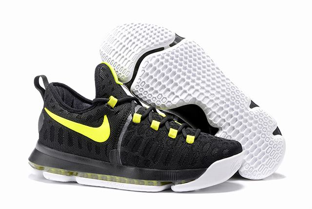 Nike KD 9 Shoes Black Fluorescent Green