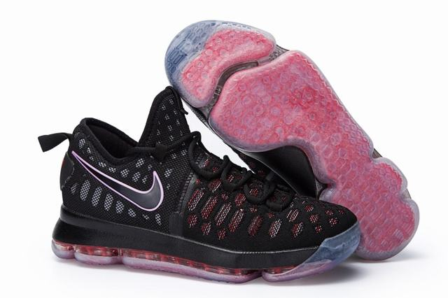 Nike KD 9 Shoes Red Black Black