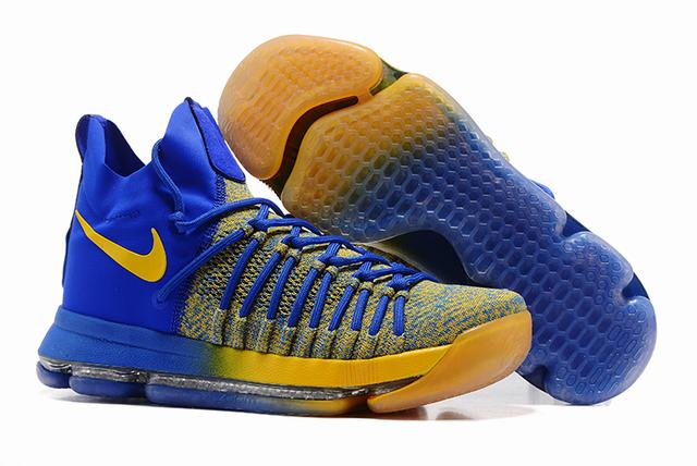 Nike KD 9 Shoes Royal Blue Yellow