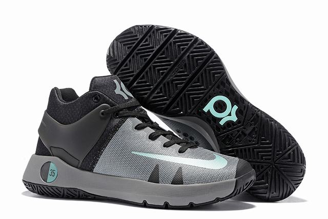 Nike KD Trey 5 Shoes Grey Black Jade