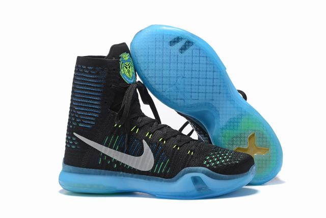 Kobe 10 Shoes Elite Black Blue