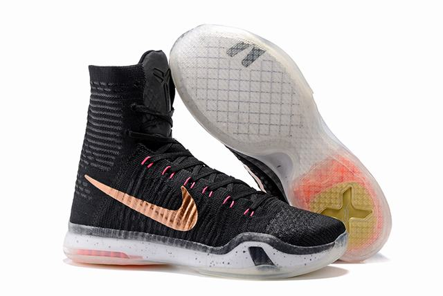 Kobe 10 Shoes Elite Black Gold