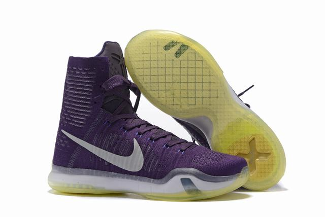 Kobe 10 Shoes Elite Purple White