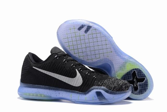 Kobe 10 Shoes Low Black White