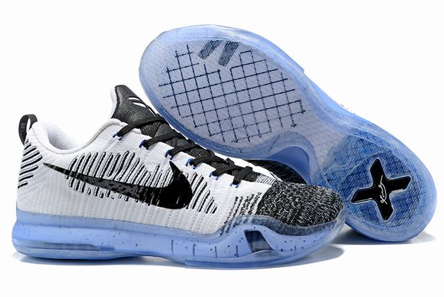 Kobe 10 Shoes Low Grey Black