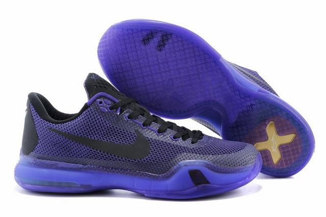 Kobe 10 Shoes Low Lakers Purple
