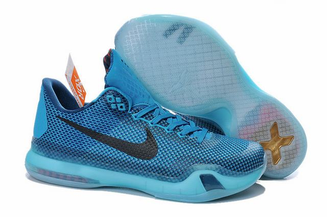 Kobe 10 Shoes Low Light Blue Black