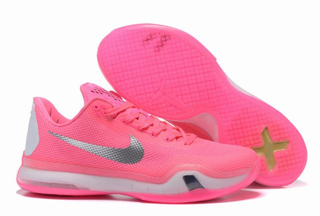 Kobe 10 Shoes Low Pink White