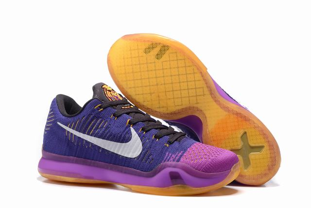 Kobe 10 Shoes Low Purple Pink White