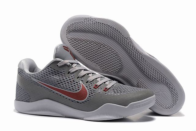 Kobe 11 Shoes Cool Grey Red