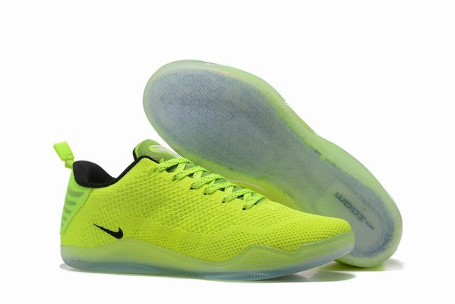 Kobe 11 Shoes Fluorescent Green Yellow
