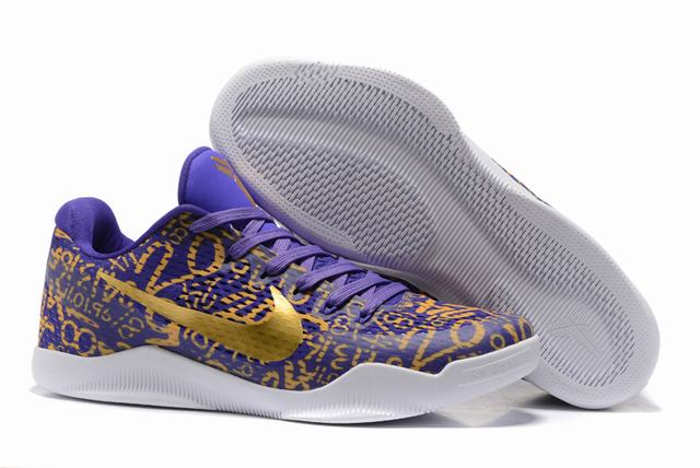 Kobe 11 Shoes Purple Gold