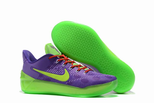 Nike Kobe AD 12 Air Cushion Shoes Cheetah Purple Green