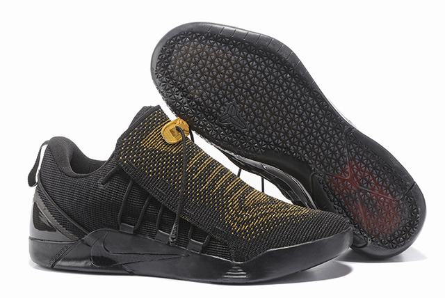 Nike Kobe AD 12 Shoes Woven Surface Black Gold