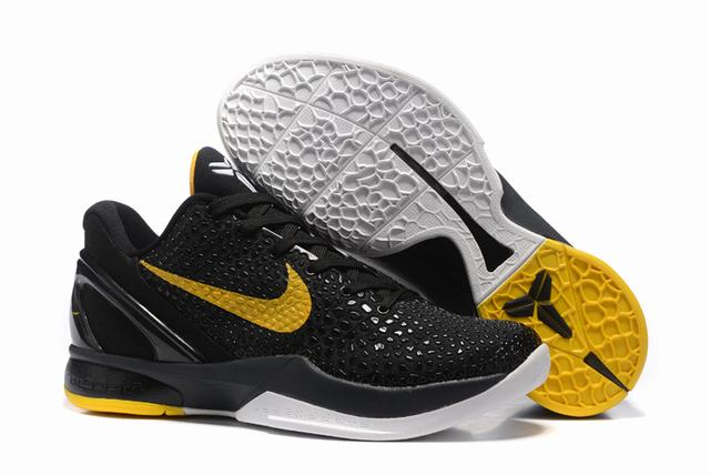 Kobe 6 Shoes Black Yellow