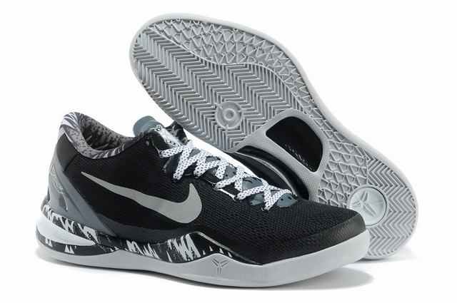 Kobe 8 Shoes Black White