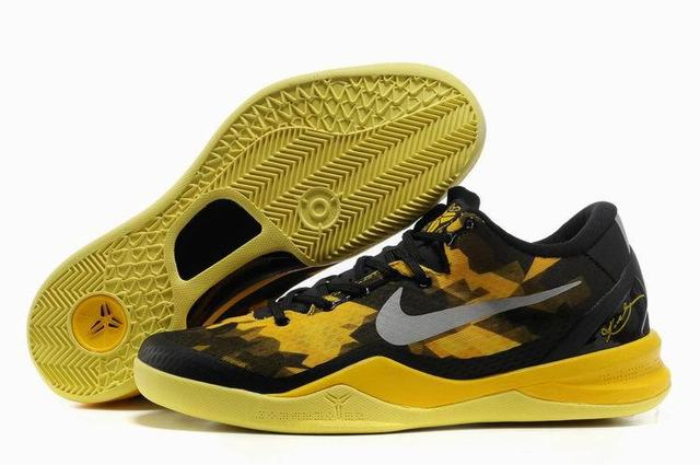 Kobe 8 Shoes Black Yellow