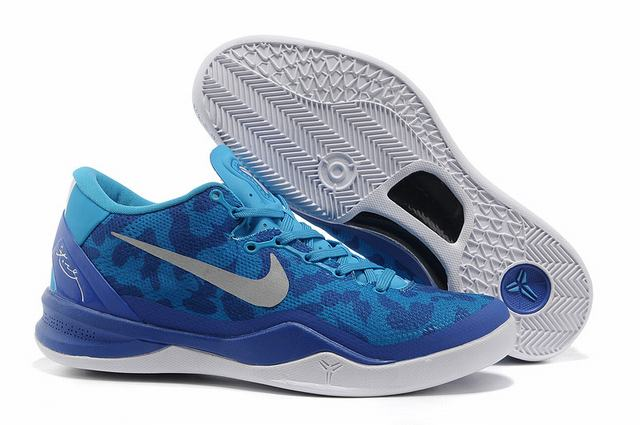 Kobe 8 Shoes Royal Blue White