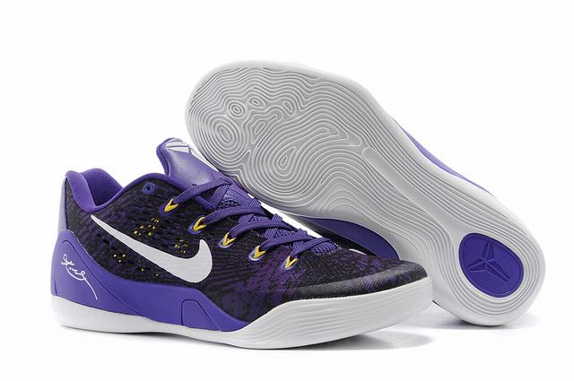 Kobe 9 Shoes Low Purple Black White
