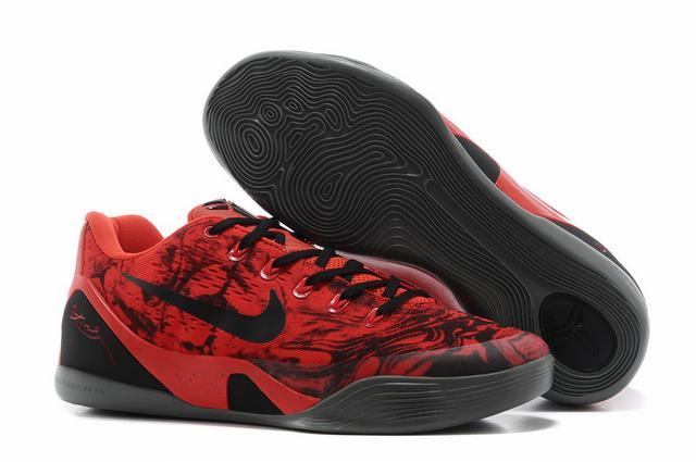 Kobe 9 Shoes Low Red Black