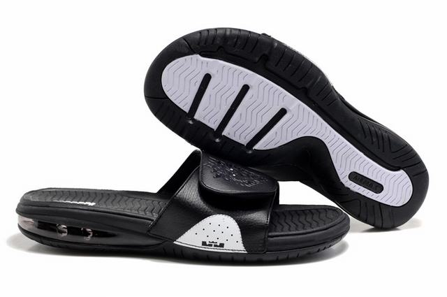 Nike Lebron James Slide Elite Air Cushion Slippers Black White
