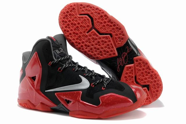 Nike Lebron James 11 Shoes Black Red