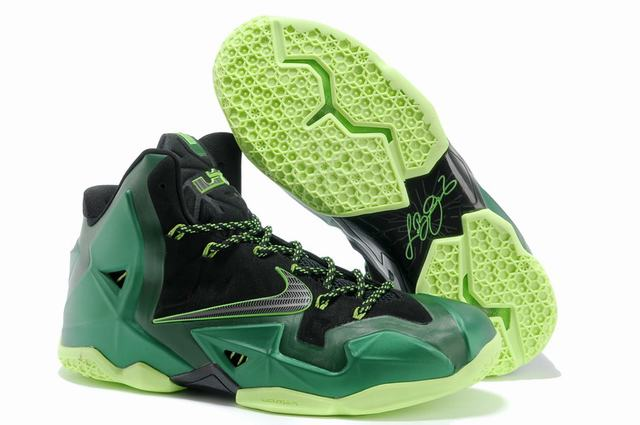 Nike Lebron James 11 Shoes Blackish Green Black