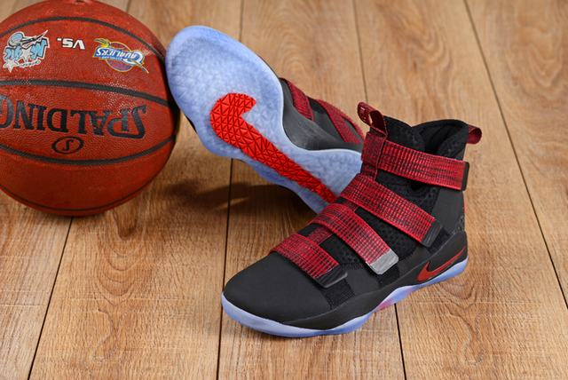 Nike Lebron James Soldier 11 Shoes Black Red Red