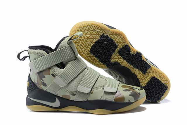 Nike Lebron James Soldier 11 Shoes Camo