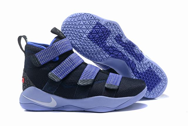 Nike Lebron James Soldier 11 Shoes Dark Blue Grey