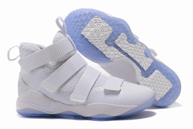 Nike Lebron James Soldier 11 Shoes Pure White